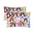 Girls Love Live Anime School Set 2 Pillow Case 20 x 30 One-Side Printed Best Pillow Quality Fabric