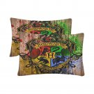 Personalized Hogwarts Set 2 Pillow Case 20 x 30 One-Side Printed Best Pillow High Quality Fabric