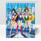 Sailor Moon Girls Anime Shower Curtains Best Top popular Curtains Bath Durable Waterproof Fabric
