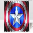 Captain America Shield Shower Curtains Best Top popular Curtains Bath Durable Waterproof Fabric