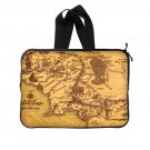Middle Earth Map The Lord Of The Ring (Twin Sides) Laptop Sleeve 15 inch Popular Laptop Cases