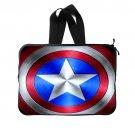 Captain America Shield (Twin Sides) Laptop Sleeve 15 inch Popular Best Laptop Cases Waterproof