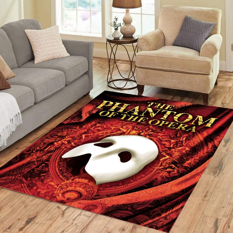 The Phantom Of The Opera Carpet Living Room 5'x3'3'' Home Kichent Coffe's Most Popular Area Rugs