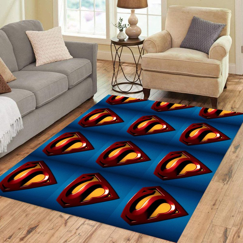 Superman Icon Carpet Living Room 5'x3'3'' Home Kichent Coffe's Most Popular Area Rugs