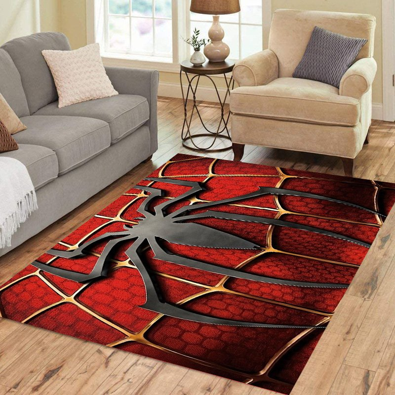 Spiderman Carpet Living Room 5'x3'3'' Home Kichent Coffe's Most Popular Area Rugs