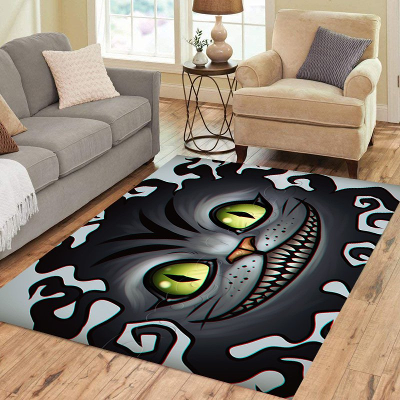 Cheshire Cat Alice in Wonderland Carpet Living Room 5'x3'3'' Home Kichent Coffe's Popular Area Rugs