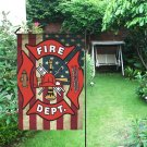 Fire Dept Garden Flag popular Outdoor Seasonal Flags Weatherproof Fade Resistant fFabric