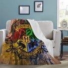 "Hogwarts Most Comfortable Blanket 60"" X 80"" Styles Fleece Quality Soft Cozy, Washable, Bedding"