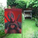 Deadpool Love Double-Sided Garden Flag Seasonal popular Flags Weatherproof