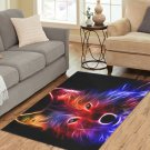 Colourfull Wolf Living Room Carpet 5'x3'3'' Home Kichent Coffe's Most Popular Area Rugs
