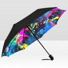 Paint Colourfull Abstract Rain Mate Travel Umbrella Anti-UV Waterproof popular Portable Foldable