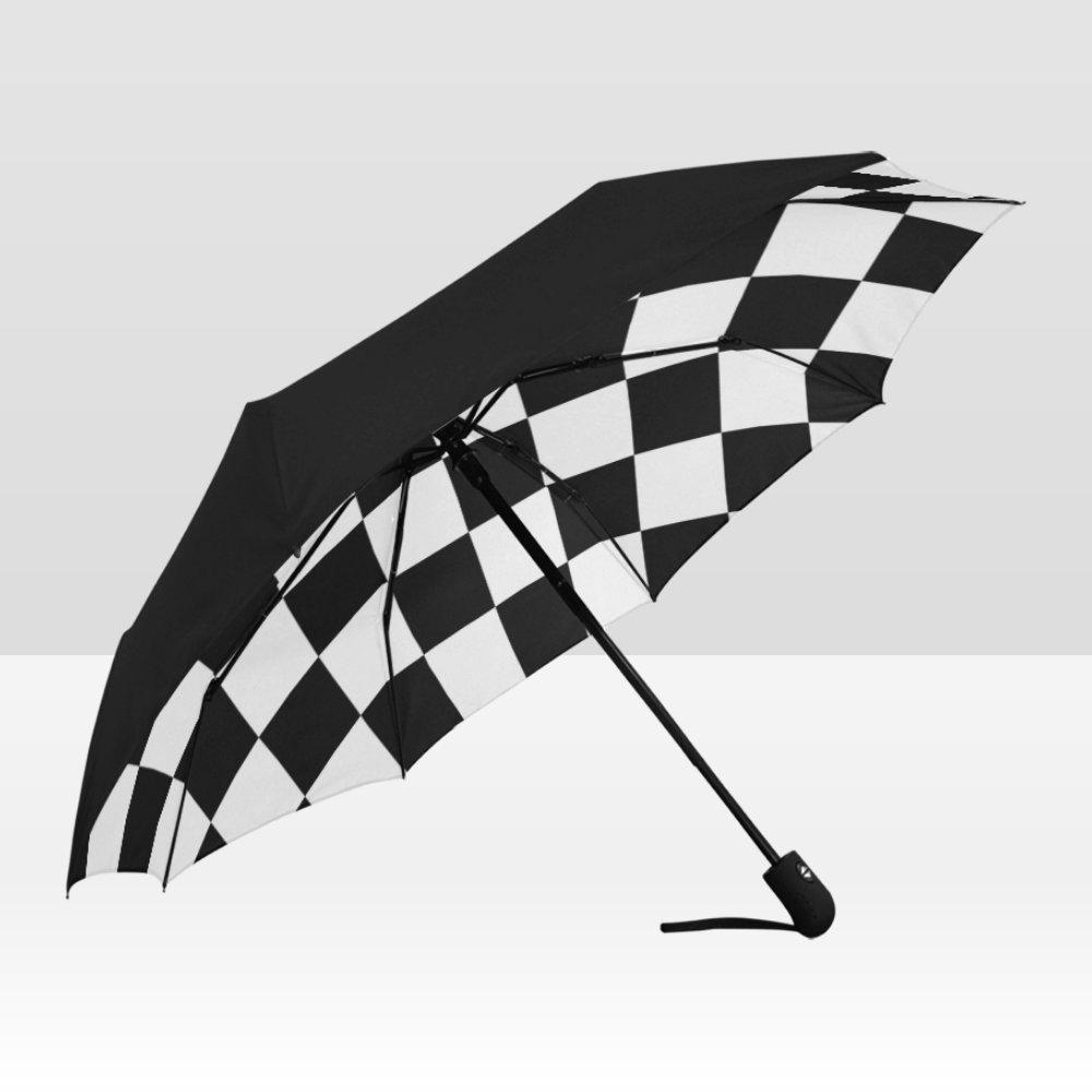 Checkered Rain Mate Travel Umbrella Anti-UV Waterproof popular BEST GIFT Portable Foldable