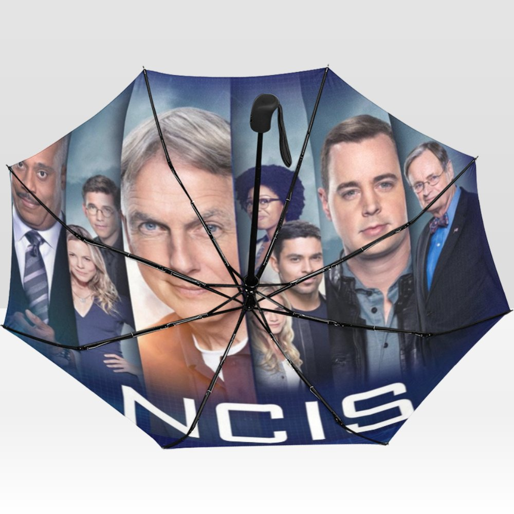NCIS (Naval Criminal Investigative Service) Rain Mate Travel Umbrella Anti-UV Portable Foldable