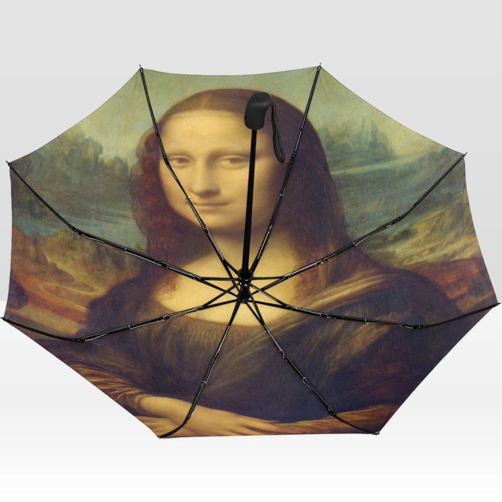 Da Vinci Mona Lisa Rain Mate Travel Umbrella Anti-UV Waterproof popular BEST GIFT Portable Foldable