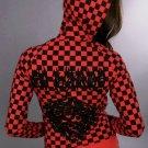 Ed Hardy Womens Checkered Hoodie, Red