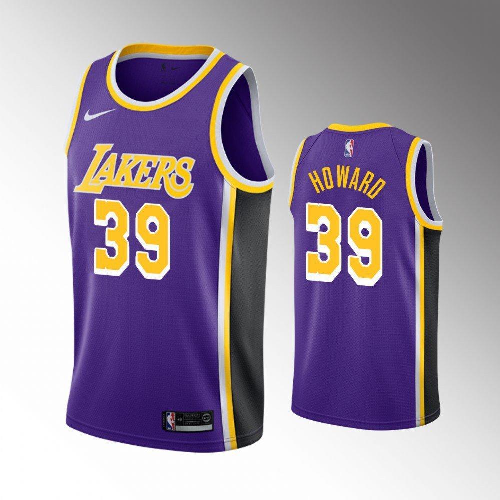 Men's Los Angeles Lakers #39 Dwight Howard Statement Jersey ...