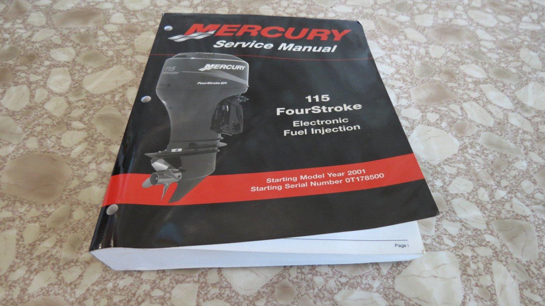 Used Oem 2001 Mercury 115 Hp Four Stroke Efi Service Manual Guide