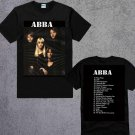 ABBA BAND GREATEST HITS T-SHIRT ALBUM MOST POPULAR MUSIC ADULT TEE UNISEX SHIRTS TWO SIDE