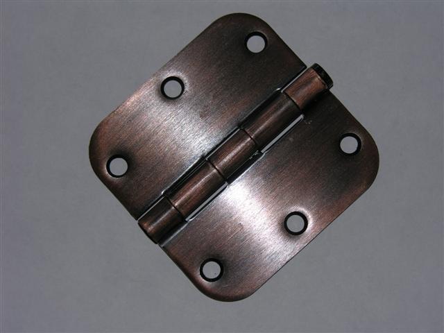 """3.5"""" Venetian Bronze 3 ½"""" Door Hinge w/screws 5/8 radius"""