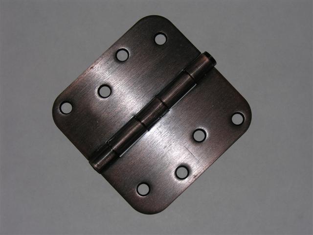 """4"""" Venetian Bronze Door Hinge w/screws 5/8 radius"""