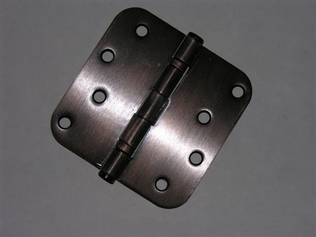 """Venetian Bronze 4""""x4"""" Ball Bearing Hinges 5/8"""" radius corners"""