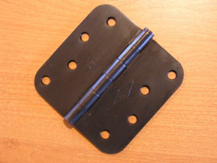 "Oil Rubbed Bronze 4""x4"" Door Hinge w/screws 5/8 radius US10B"
