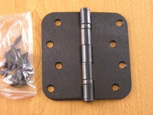 "Oil Rubbed Bronze 4""x4"" Ball Bearing Hinges 5/8"" radius corners"