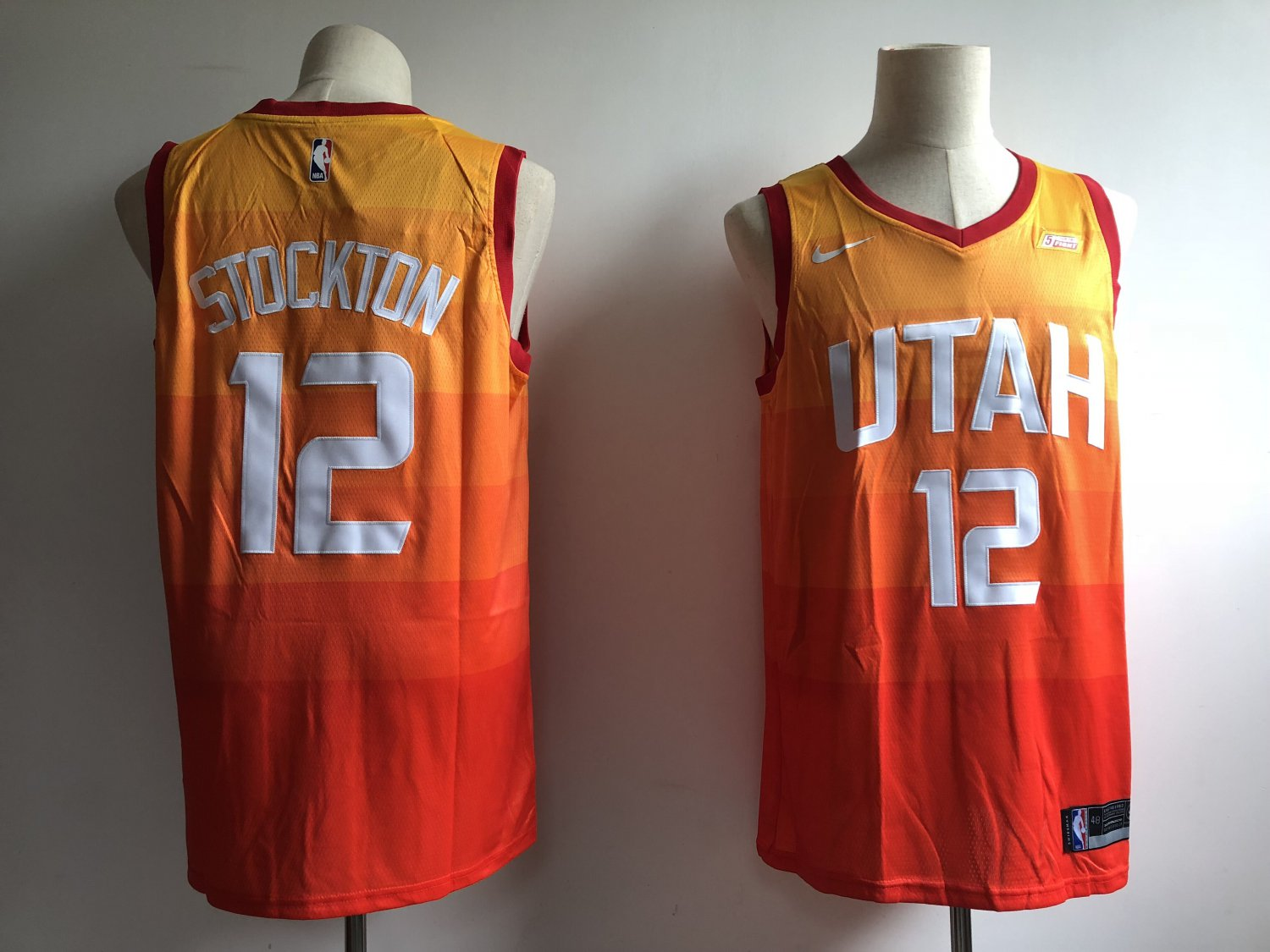 best website 9a2e7 e9540 Utah Jazz 12# John Stockton Swingmen Basketball Jersey Orange Stitched