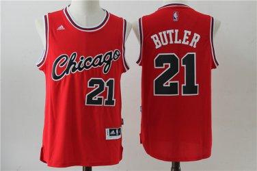 size 40 8ec05 83fd5 Men's Chicago Bulls 21# Jimmy Butler Green Basketball Jersey red