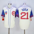Men's Chicago Cubs #21 Sammy Sosa Cream 1942 Turn Back The Clock Jerseys