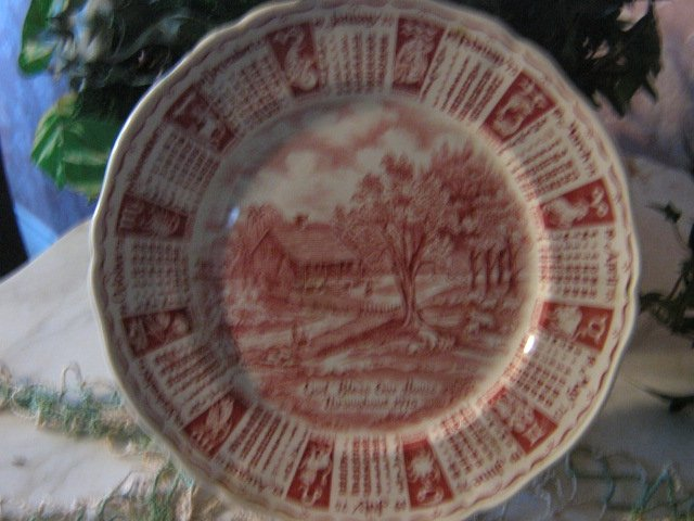 vintage 1975 Meakin Zodiac Calendar Collector Plate