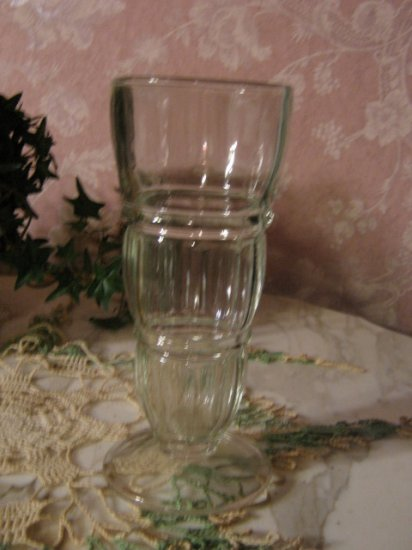 ~ TWO ~ Vintage 1950's Soda Malt tall pedistal / footed Glass
