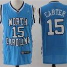 2019Mens north carolina #15 carter basketball jersey blue