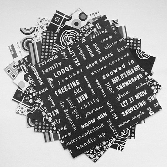Black & White Paper Pack Scrapbooking