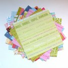 Text Prints paper Pack Scrapbooking