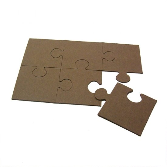 Blank Chipboard Puzzles Scrapbooking