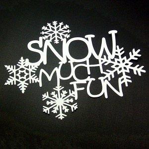 Snow Much Fun - Die Cut Scrapbooking