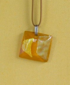 Dichroic Glass Necklace #1