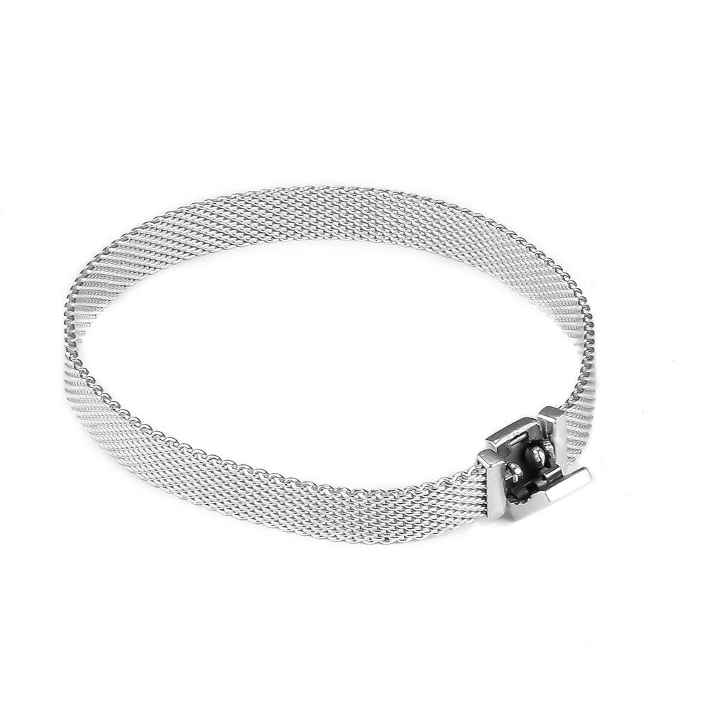 925 Sterling Silver Bracelets For Women Original Jewelry Making Fits Bangle