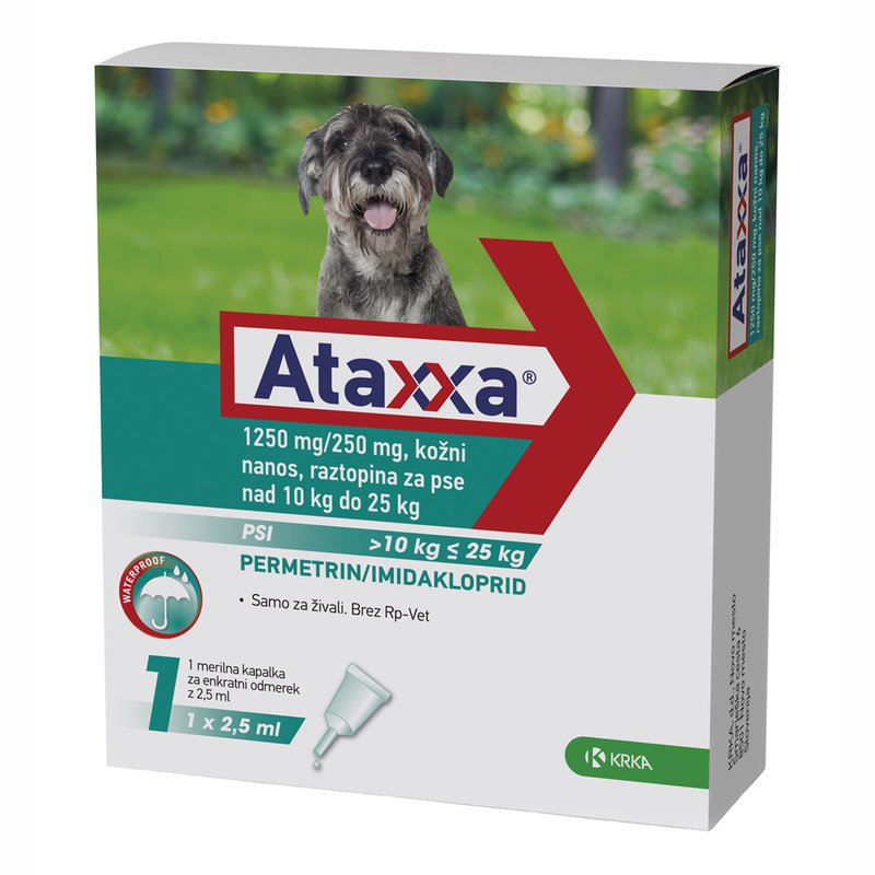 ataxxa generic advantix 10-25 kgs - 4 pipettes