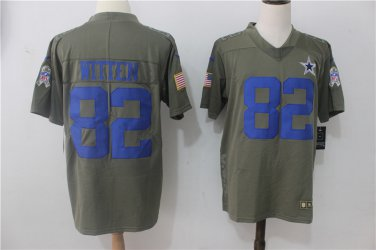 sports shoes ffca8 9f1ae Dallas Cowboys #82 Jason Witten Olive Limited 2017 Salute to Service Jersey