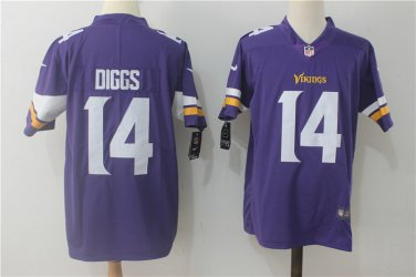 detailing 5ee95 befe1 Men's Minnesota Vikings #14 Stefon Diggs Purple Limited Jersey Stitched