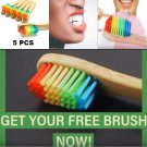5 Pack Bamboo Toothbrushes Soft Medium Bristles Rainbow For Adults Your Teeth