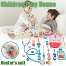 Doctor Role  Kit Playing Game Toy Medical Bag Set Wooden For Children Gift