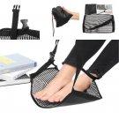 Portable Foot Hammock Adjustable Travel Under Desk Footrest For Airplane Office