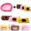 Small/Large Pet Hamsters House And Hideouts Pink Soft With Mat Bed For Cage