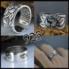 SILVER RING LOTUS OF LUCK. BUDDHA. ADJUSTABLE SIZE