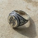 WWII THE GERMAN RING WAFFEN SS  (silver 925) size-11