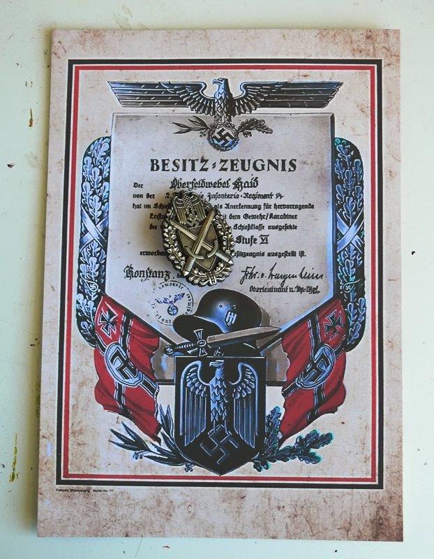 accurate shooter(sniper) badge.Wehrmacht / Heer Schützenschnur. nazi. Third Reich