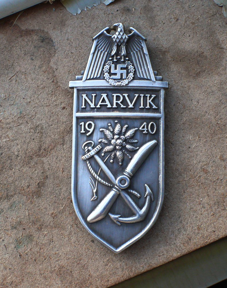 NARVIK 1940 Battle Shield Germany Nazi 3 Reich